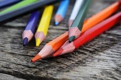 Fim do pastel do lápis acima Imagem de Stock Royalty Free