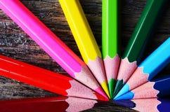 Fim do pastel do lápis acima Fotografia de Stock Royalty Free