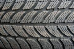 Fim do pneu de carro acima Imagem de Stock