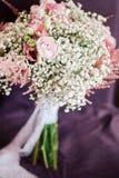 Fim do ramalhete do casamento do vintage acima Fotografia de Stock