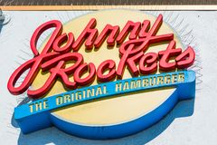 Fim do sinal dos foguetes de Johnny acima Foto de Stock Royalty Free