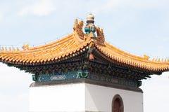 Fim do templo do chinês tradicional acima Imagens de Stock