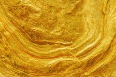 Fim dourado da textura do surfece da pepita acima Fotos de Stock Royalty Free