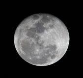 Fim elevado da Lua cheia do resolusion acima Fotos de Stock Royalty Free