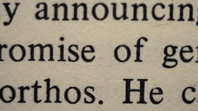 Fim extremo do texto ingl?s acima do panorama filme