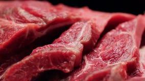 Fim fresco da carne da carne acima vídeos de arquivo
