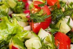 Fim fresco da salada acima Fotos de Stock Royalty Free