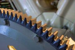 Fim grande da máquina dos dentes de engrenagem do metal acima Imagem de Stock Royalty Free