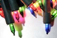 Fim horizontal das luzes feericamente Fotos de Stock Royalty Free