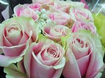 Fim lindo & atrativo acima de Rose Flowers Bouquet cor-de-rosa imagens de stock royalty free