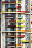 Fim moderno do prédio de apartamentos acima Fotografia de Stock