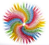 Fim modular do origami do arco-íris brilhante acima Imagens de Stock Royalty Free