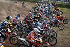 FIM Motocross World Championship MX3 2011 Senkvice Royalty Free Stock Photos