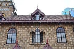 fim parcial da casa de campo do Norueguês-estilo Fotografia de Stock Royalty Free