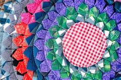 Fim peruano tailandês colorido da superfície do tapete do estilo acima Mais deste motivo & de mais matérias têxteis em meu porto  Imagens de Stock