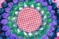Fim peruano tailandês colorido da superfície do tapete do estilo acima Mais deste motivo & de mais matérias têxteis em meu porto  Imagem de Stock