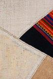 Fim peruano tailandês colorido da superfície do tapete do estilo acima Mais deste motivo & de mais matérias têxteis em meu porto  Fotografia de Stock Royalty Free