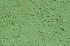 Fim pintado velho verde da textura do metal acima Imagens de Stock Royalty Free