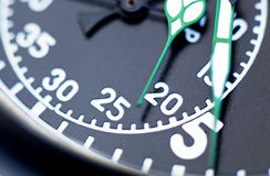 Fim preto do cronômetro acima Fotos de Stock Royalty Free