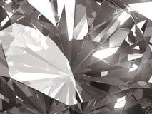 Fim realístico da textura do diamante acima com reflexão clara, ilustração 3D Fotografia de Stock Royalty Free