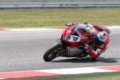 FIM Superbike Światowy mistrzostwo - Bezpłatnej praktyki 4th sesja Zdjęcie Stock