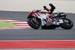 FIM Superbike Światowy mistrzostwo - Bezpłatnej praktyki 3th sesja Zdjęcia Royalty Free