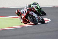 FIM Superbike Światowy mistrzostwo - Bezpłatnej praktyki 3th sesja Zdjęcia Stock