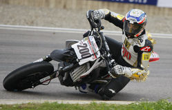 FIM Supermoto World Championship in Milan. MILAN ITALY JUNE 24 Canone Bussei Italy at the FIM Supermoto World Championship CASTELLETTO DI BRANDUZZO ITALY Stock Photography