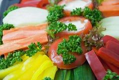 Fim vegetal do prato acima. Fotografia de Stock Royalty Free