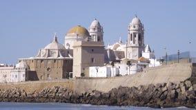 Fim velho da cidade de Cadiz acima Fotografia de Stock
