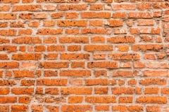 Fim velho da textura do fundo da parede de tijolo vermelho acima a parede bricked textured o teste padrão para o replicate contín imagem de stock