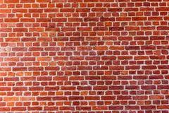 Fim velho da textura do fundo da parede de tijolo vermelho acima a parede bricked textured o teste padrão para o replicate contín foto de stock
