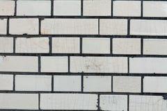 Fim velho da textura do fundo da parede de tijolo vermelho acima a parede bricked textured o teste padrão para o replicate contín imagem de stock royalty free