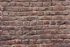 Fim velho da textura do fundo da parede de tijolo vermelho acima a parede bricked textured o teste padrão para o replicate contín fotos de stock royalty free