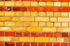 Fim velho da textura do fundo da parede de tijolo vermelho acima a parede bricked textured o teste padrão para o replicate contín fotografia de stock