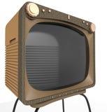 Fim velho do aparelho de televisão acima ilustração stock