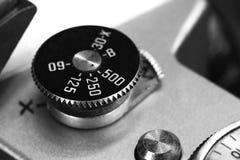 Fim velho do botão do obturador da câmera acima Imagem de Stock Royalty Free