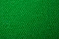 Fim verde da textura da cor de pano dos bilhar da associação acima Fotografia de Stock