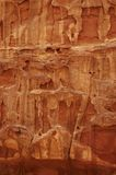 Fim vermelho da textura da rocha acima Foto de Stock Royalty Free