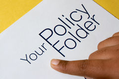 Fimger Pointing Policy Folder Stock Photo