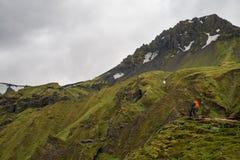 Fimmvorduhals trek i Island Royaltyfri Fotografi