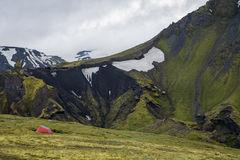 Fimmvorduhals trek in Iceland Royalty Free Stock Photo
