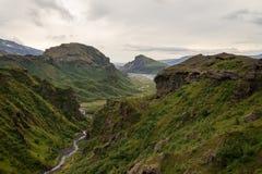 Fimmvorduhals trek in Iceland Stock Photography