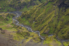 Fimmvorduhals trek in Iceland Stock Images