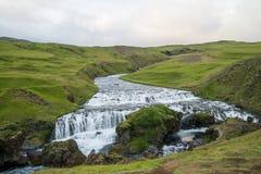 Fimmvorduhals trek in Iceland Stock Photo