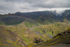 Fimmvorduhals trek in Iceland Royalty Free Stock Photos