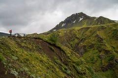 Fimmvorduhals trek in Iceland Stock Image