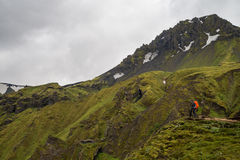 Fimmvorduhals trek in Iceland Royalty Free Stock Photography