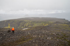Fimmvorduhals trek in Iceland Stock Photo