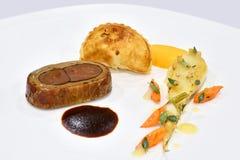 Fin äta middag kall skärm för gourmet royaltyfri bild